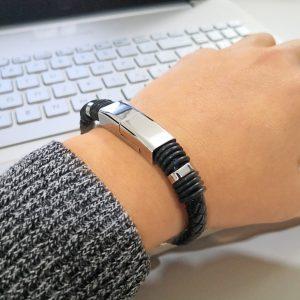 braccialetto usb in pelle