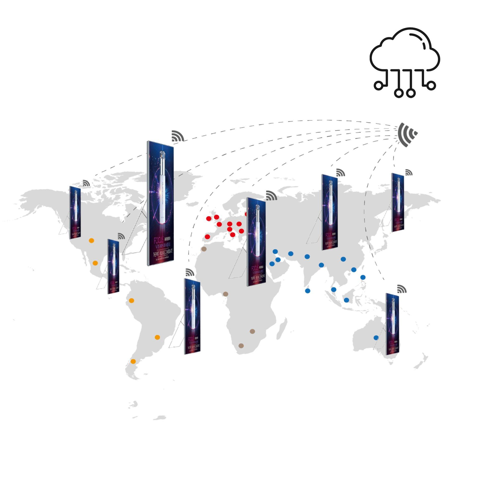 Ledwall digital poster led cloud - Roma